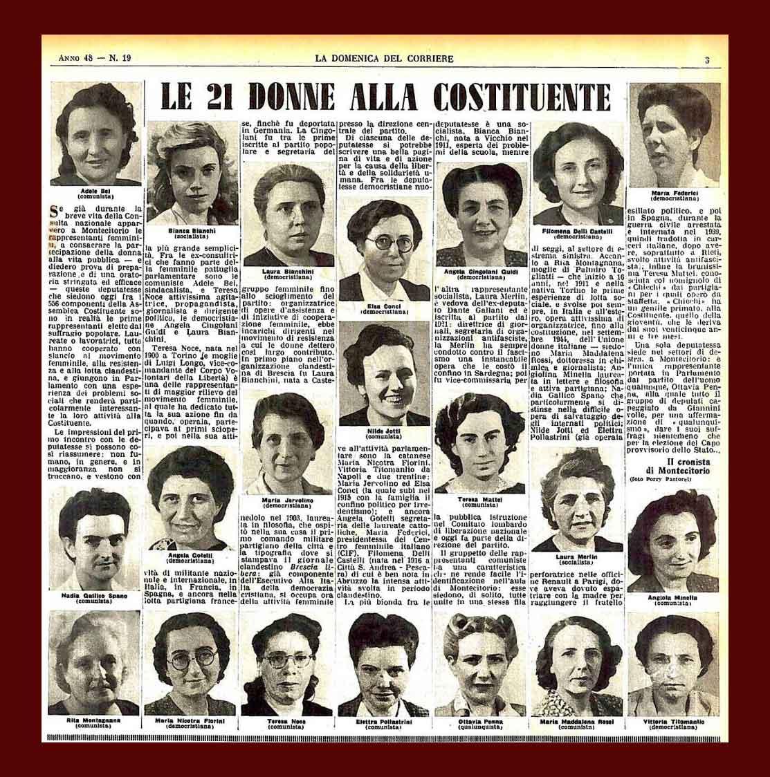 Le 21 madri costituenti