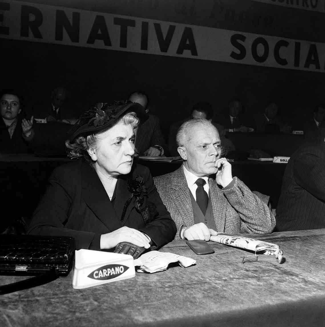 Lina Merlin e Sandro Pertini
