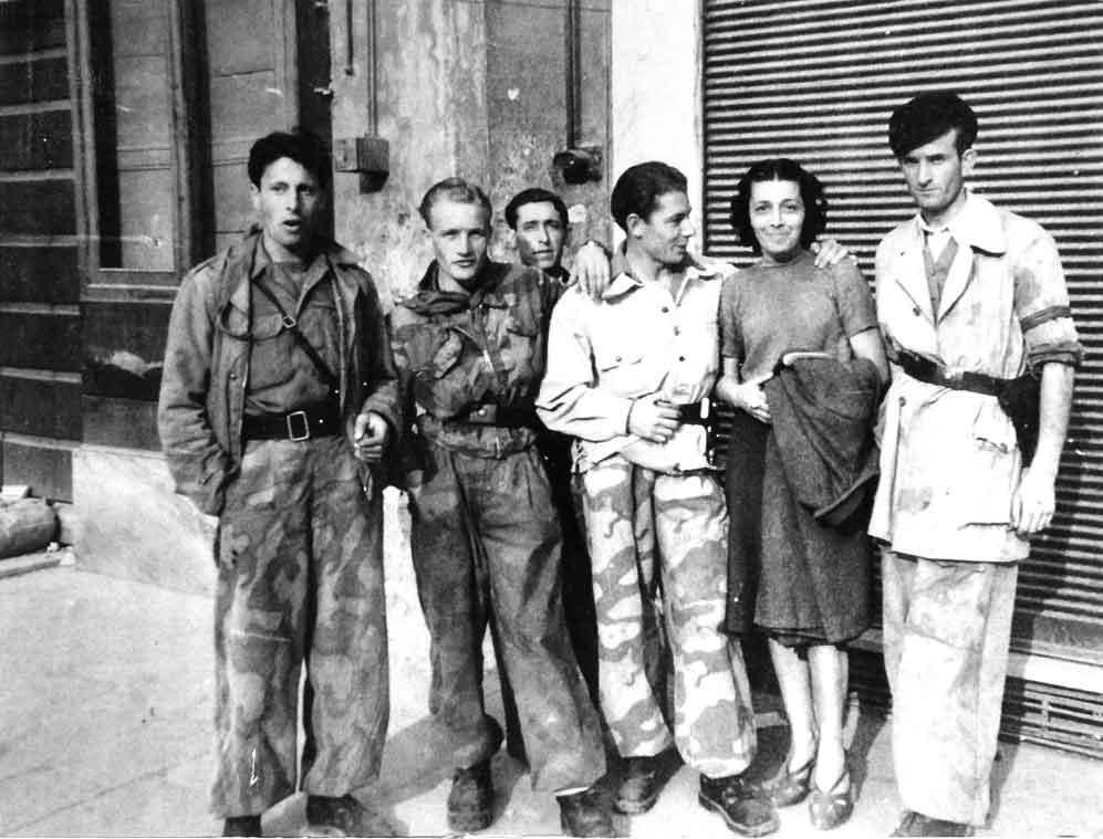 """Francesca Rolla con i partigiani della """"Ulivi"""""""